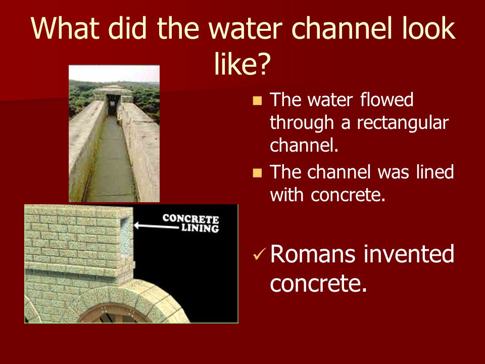 How did the aqueduct work.