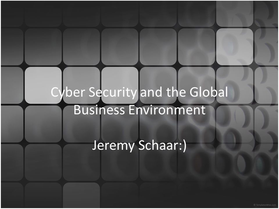 3 Questions What is the nature of the cyber security threat.
