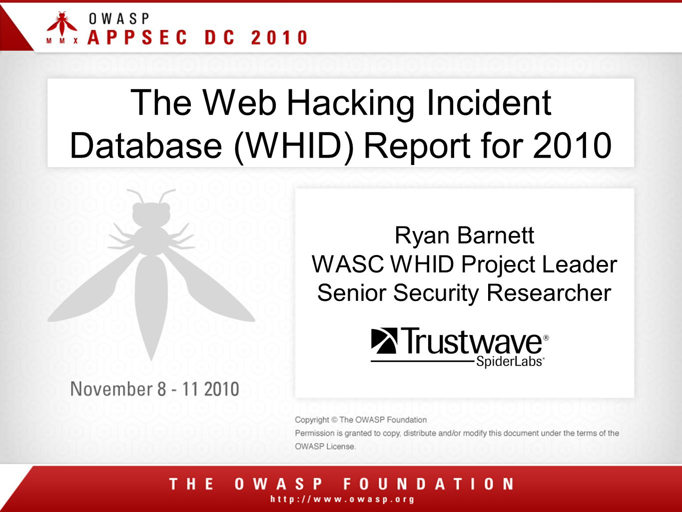 Web Hacking Incident Database (WHID)