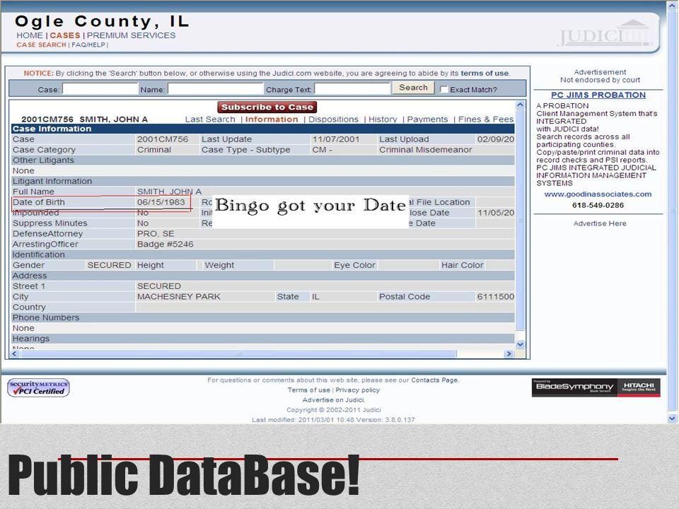 Public DataBase!