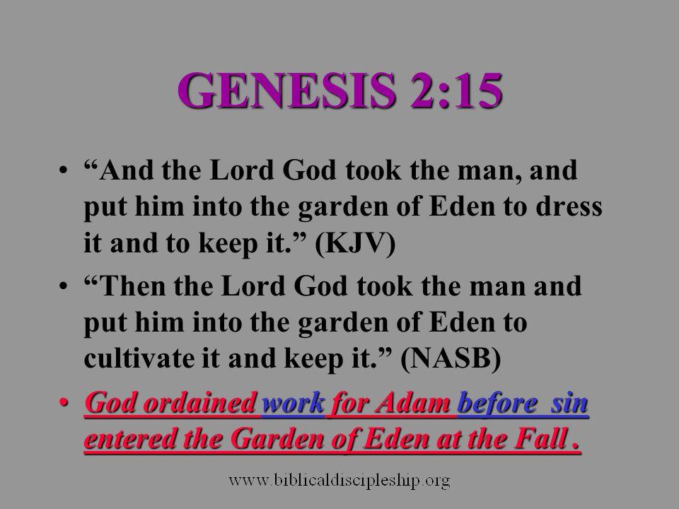 BIBLICAL ECONOMICS Ownership of private property.Good stewardship of private property.