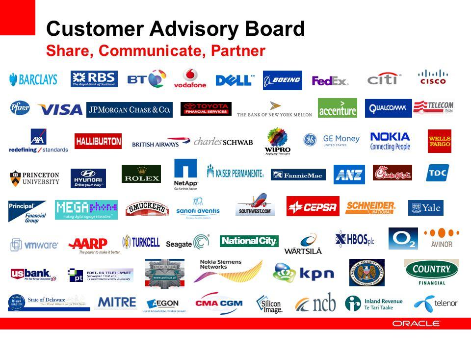 Customer Advisory Board Share, Communicate, Partner