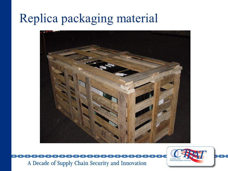 Replica packaging material