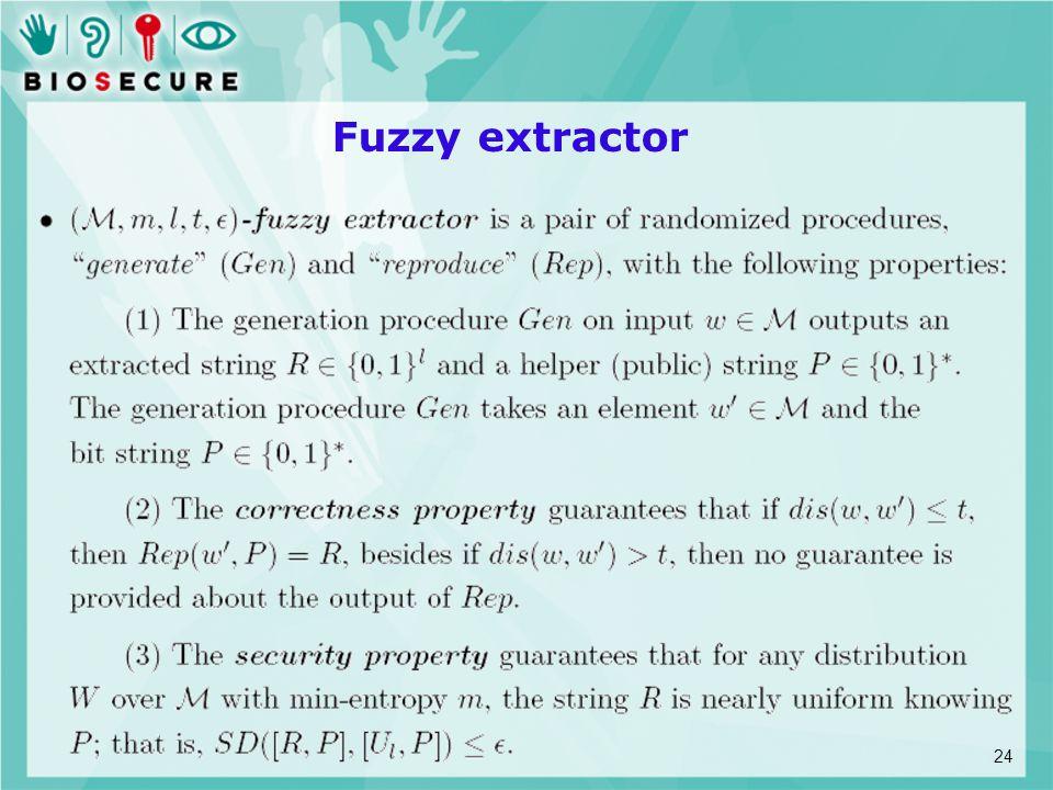 Fuzzy extractor 24