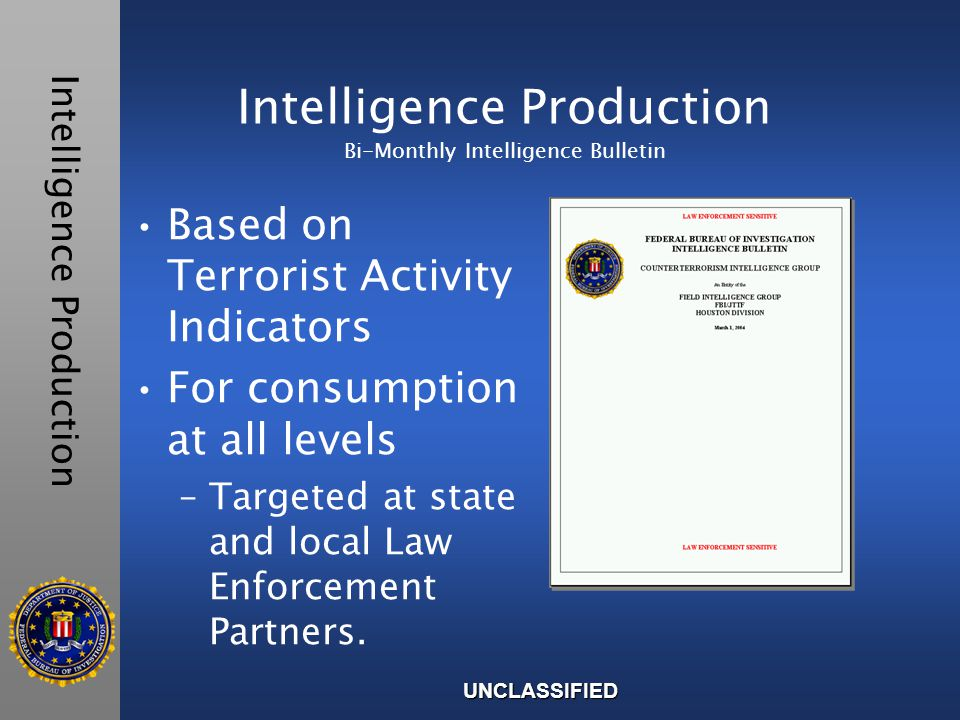 5500 Intelligence Bulletins Disseminated Monthly Incident Summaries Analysis TimelinesMaps Charts