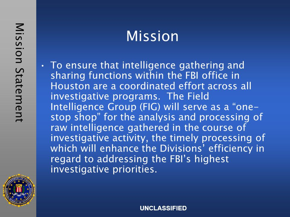 UNCLASSIFIED Two Prong Approach FBI CTIGTCRAS Law EnforcementNational Infrastructure