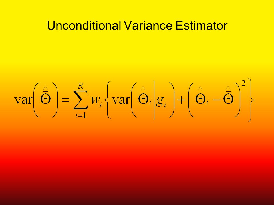 Unconditional Variance Estimator