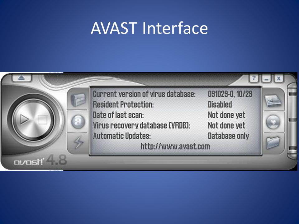 AVAST Interface