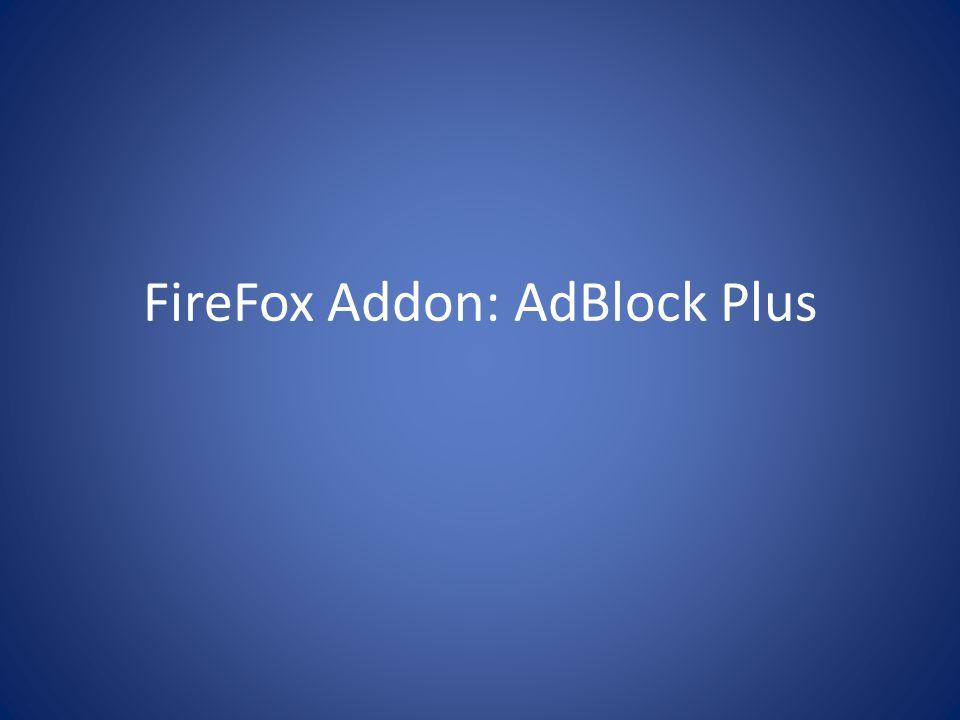 FireFox Addon: AdBlock Plus