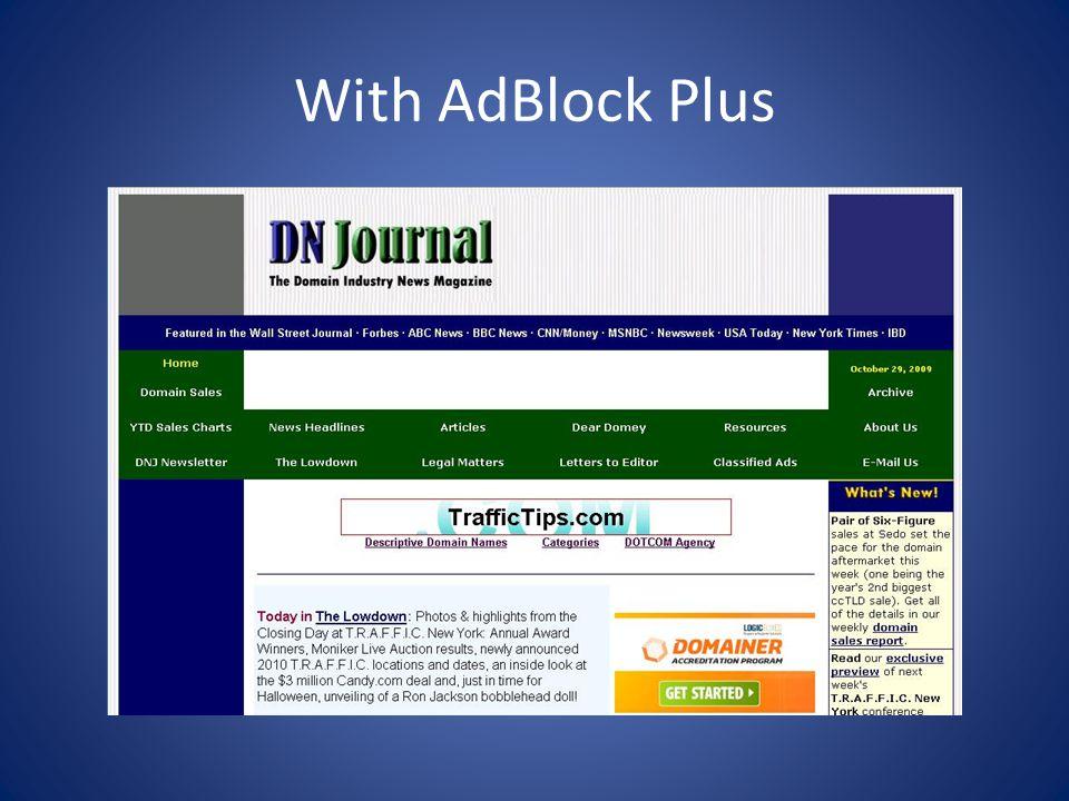 With AdBlock Plus