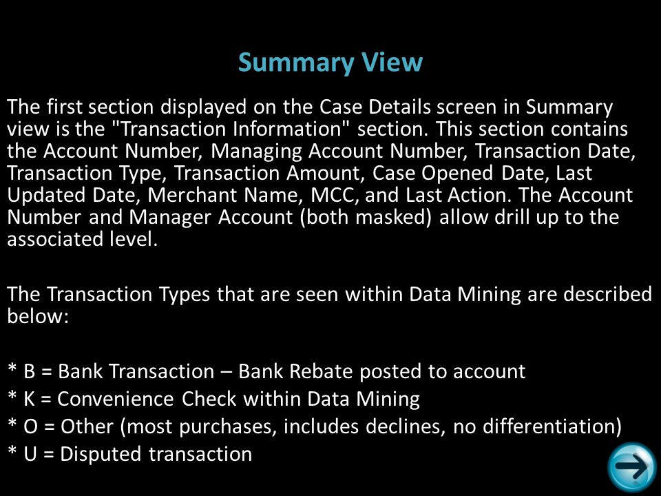 Summary View The first section displayed on the Case Details screen in Summary view is the