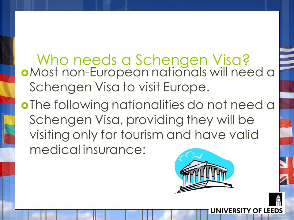 Who needs a Schengen Visa. Most non-European nationals will need a Schengen Visa to visit Europe.