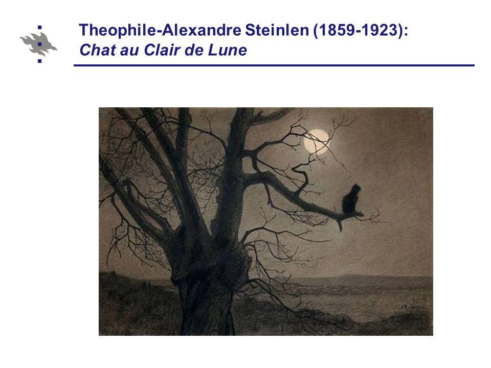 Theophile-Alexandre Steinlen (1859-1923): Chat au Clair de Lune