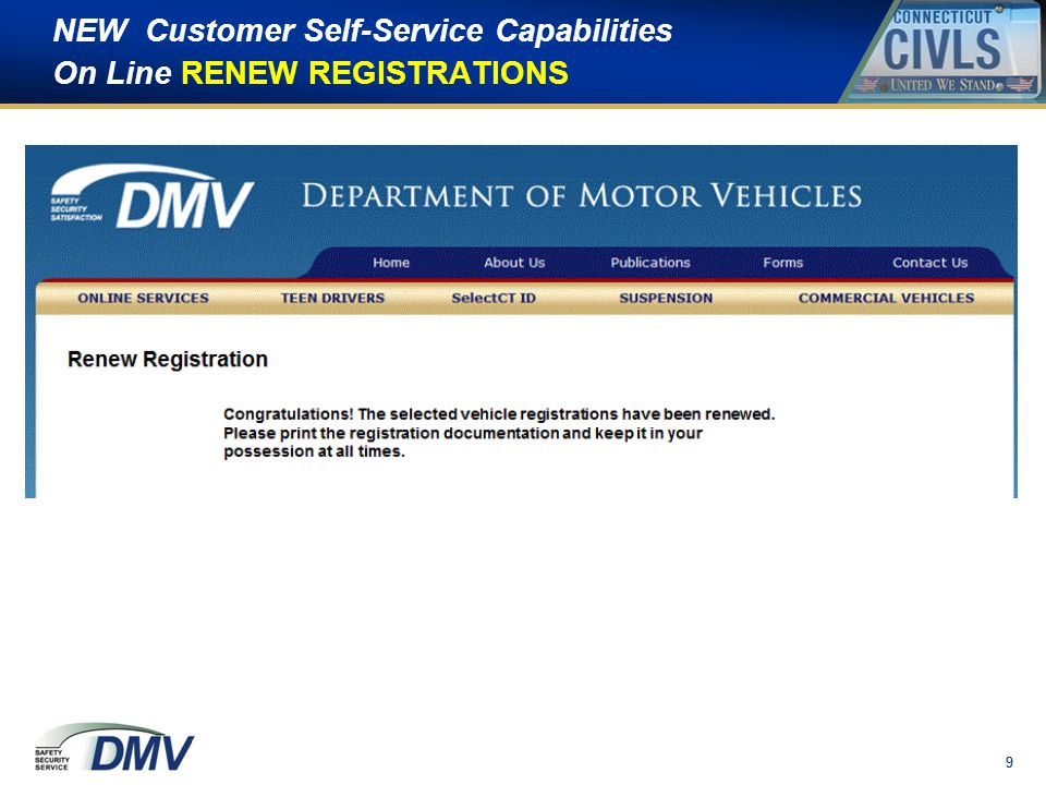10 NEW Customer Self-Service Capabilities Self-Initiated Compliance Checks