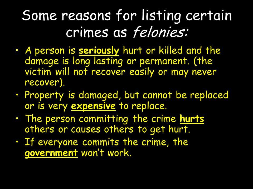felony vs.