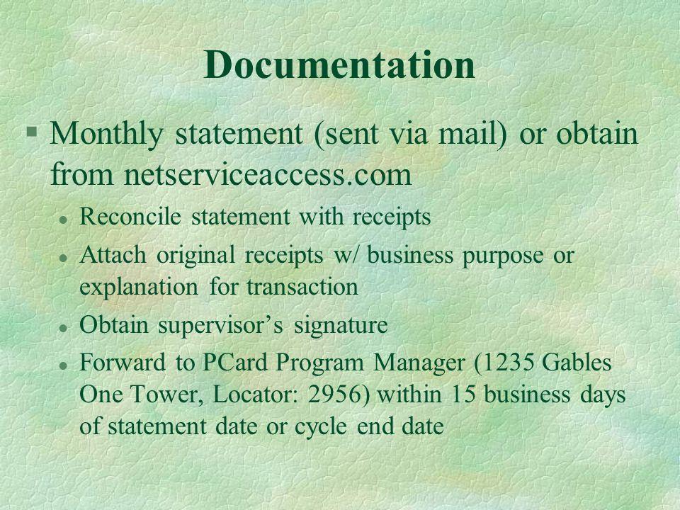 Forms §CAR Access Form §Tax Exempt Card Application §Acknowledgement Form §Transaction Log §Missing Receipt Affidavit