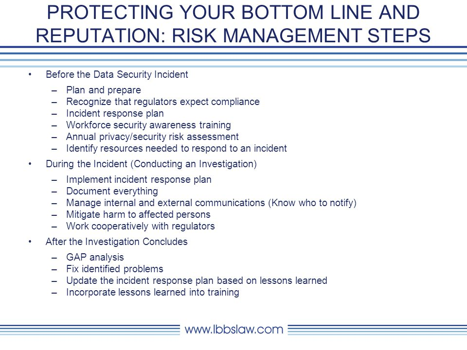 PROTECTING YOUR BOTTOM LINE: EVOLUTION OF CYBER INSURANCE February 21, 2013 31 Past Internet and e-commerce Present Identity Theft and Privacy Regulations Future Social Media, Cloud Computing, Expanded BI, Additional Regulation