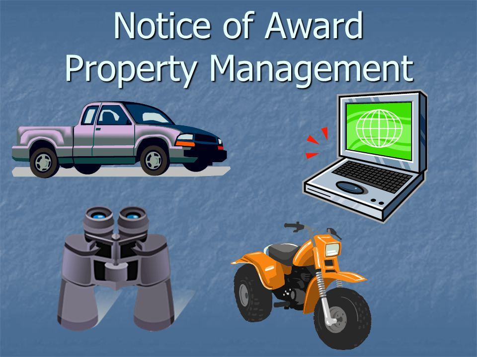 Notice of Award Property Management