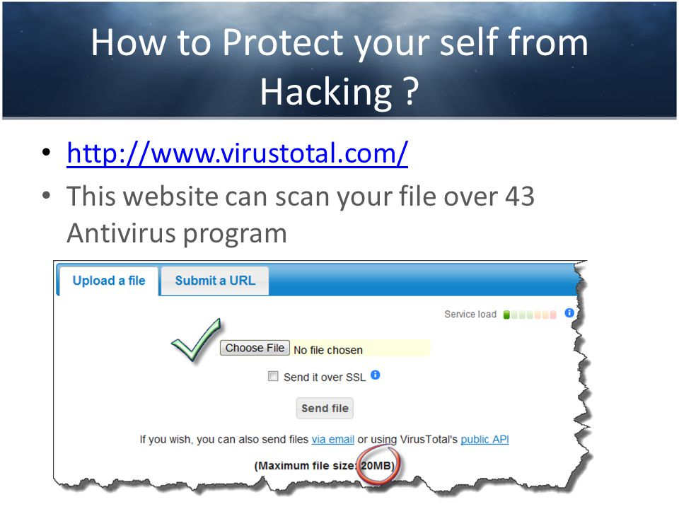 How to Protect your self from Hacking ? And here we see the result of scanning