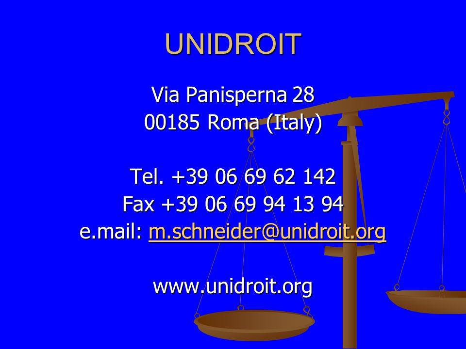 UNIDROIT Via Panisperna 28 00185 Roma (Italy) Tel.