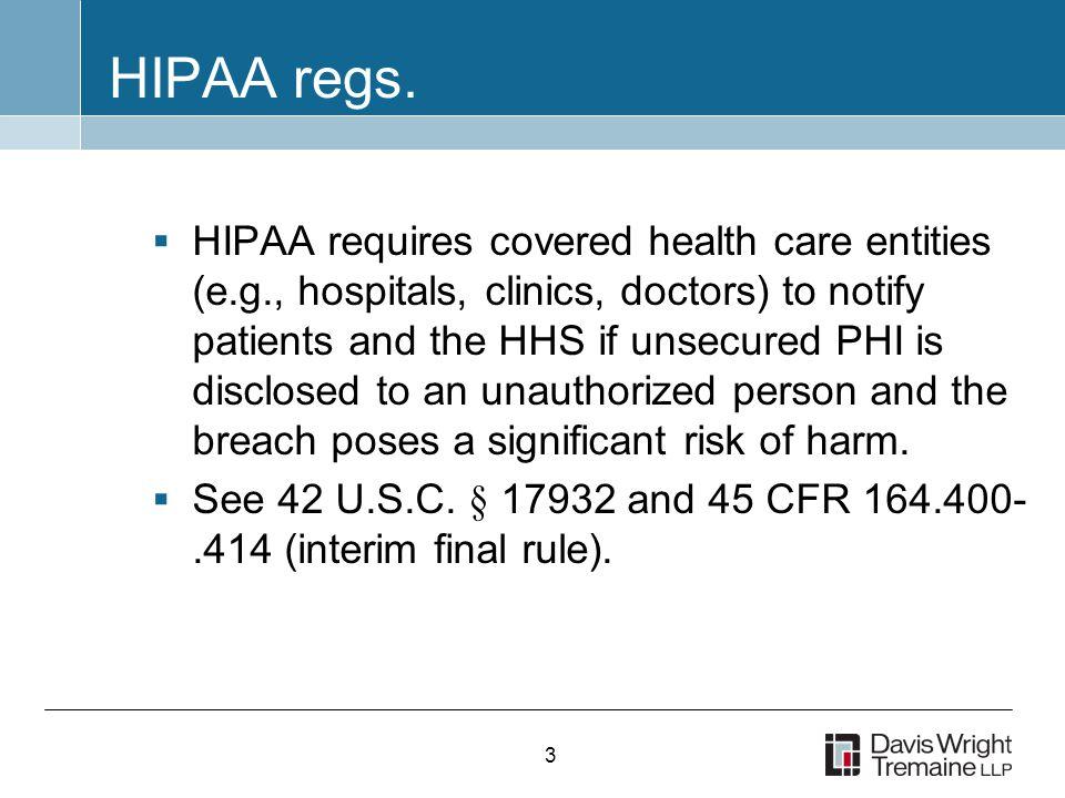 3 HIPAA regs.