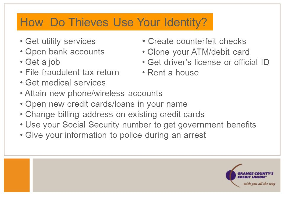 How Do Thieves Use Your Identity.