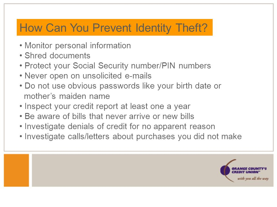 How Can You Prevent Identity Theft.