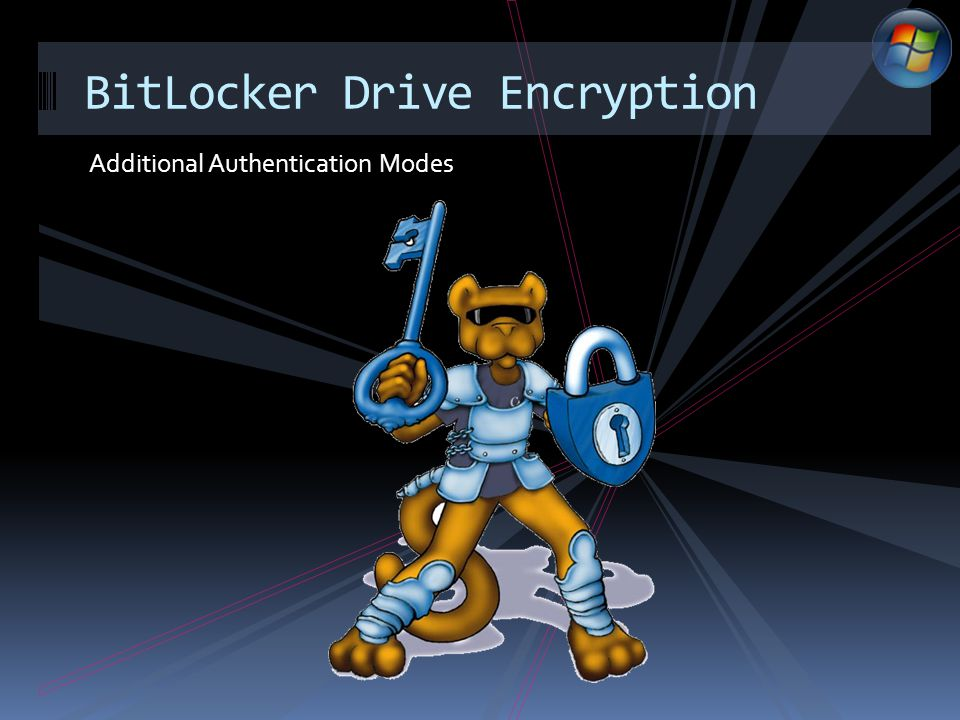 Additional Authentication Modes BitLocker Drive Encryption
