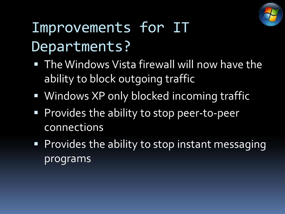 Improvements for IT Departments.