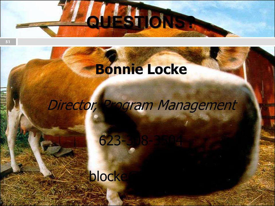 QUESTIONS? 51 Bonnie Locke Director, Program Management 623-308-3504 blocke@nlets.org