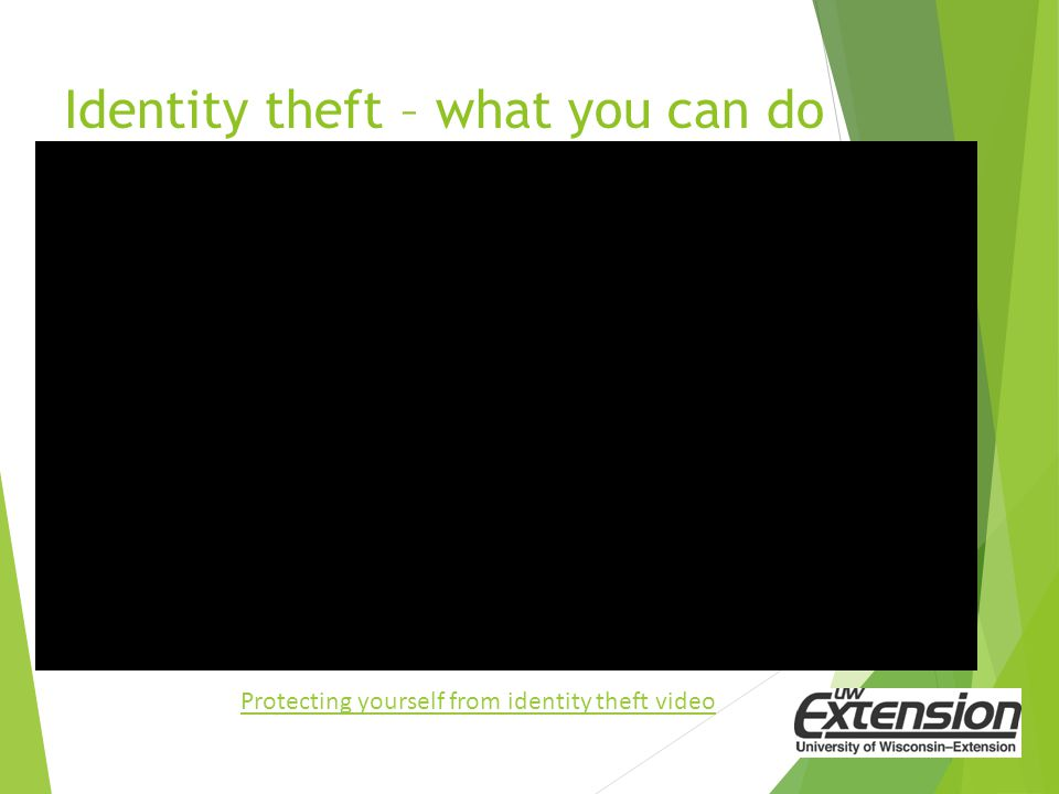 Identity theft – what you can do Protecting yourself from identity theft video