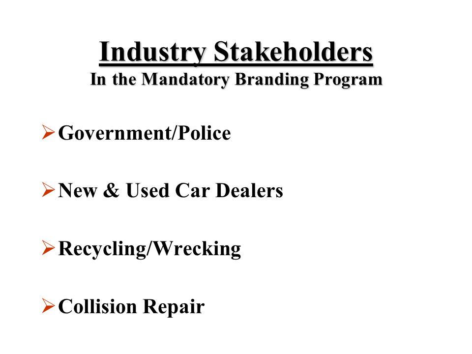 Ontario Ontario Mandatory Vehicle Mandatory Vehicle Branding Program Branding Program