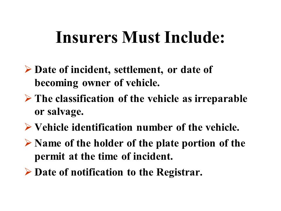 REPORTING  A person, other than an insurer, including an importer, salvager or auctioneer, who buys, sells, wrecks or otherwise deals in used motor v