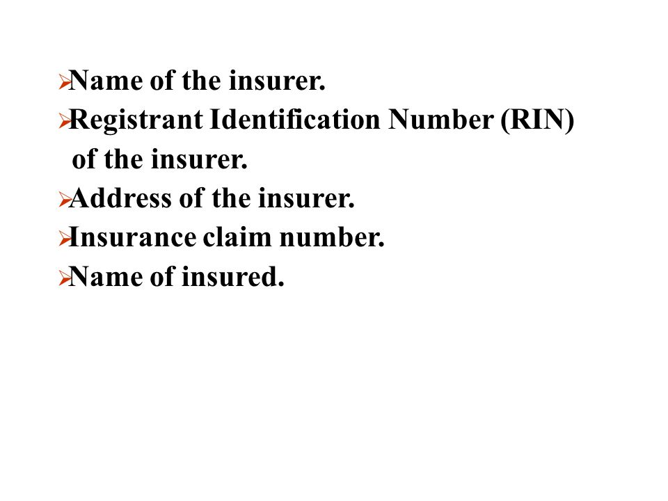 Insurers Must Include:  Date of incident, settlement, or date of becoming owner of vehicle.  The classification of the vehicle as irreparable or sal