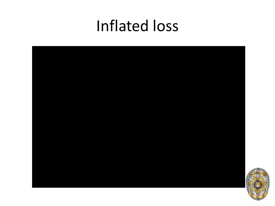Inflated loss