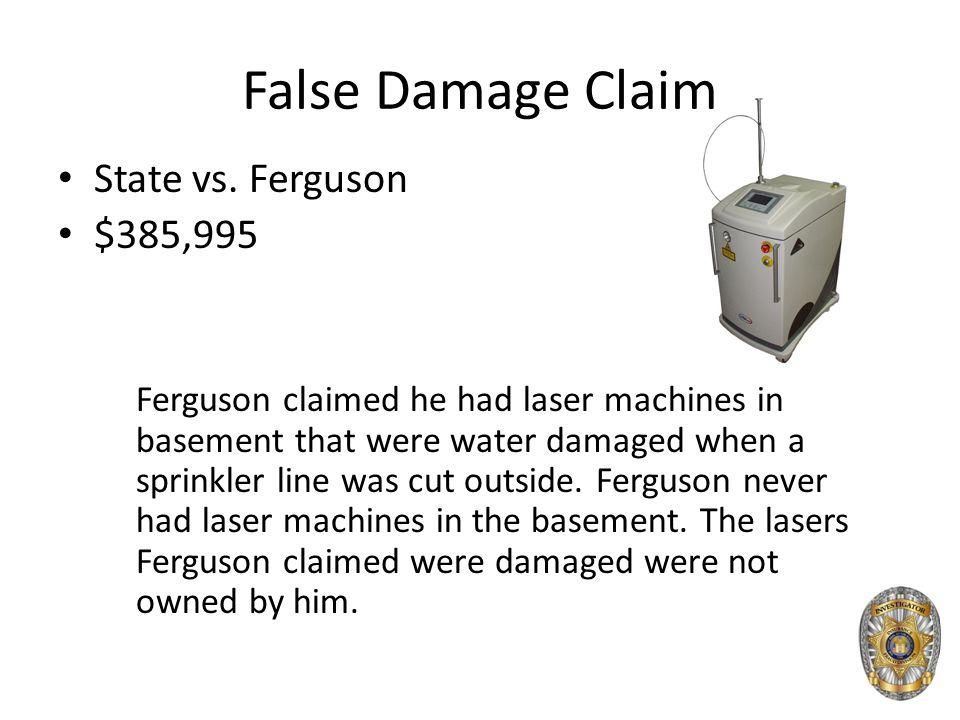 False Damage Claim State vs.