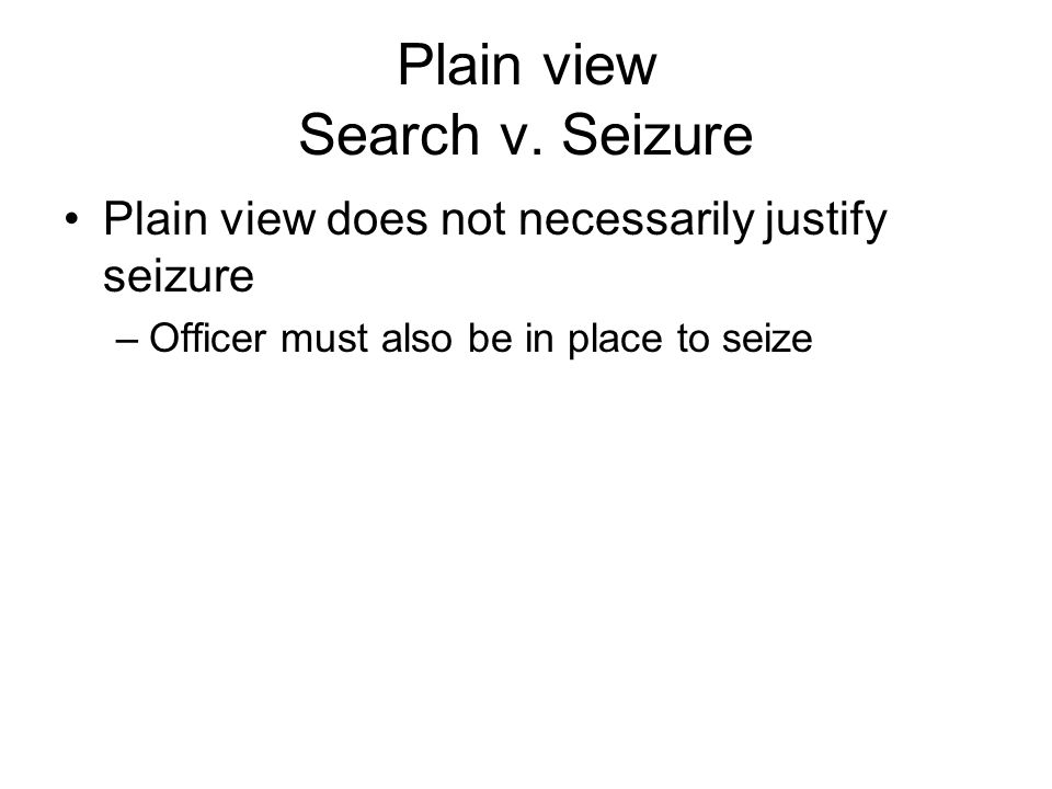 Plain view Search v.