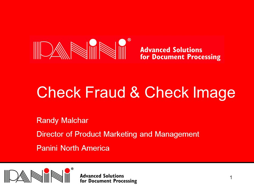 22 The UGLY Most of the perceived fraud detection advantages of paper are not image survivable.