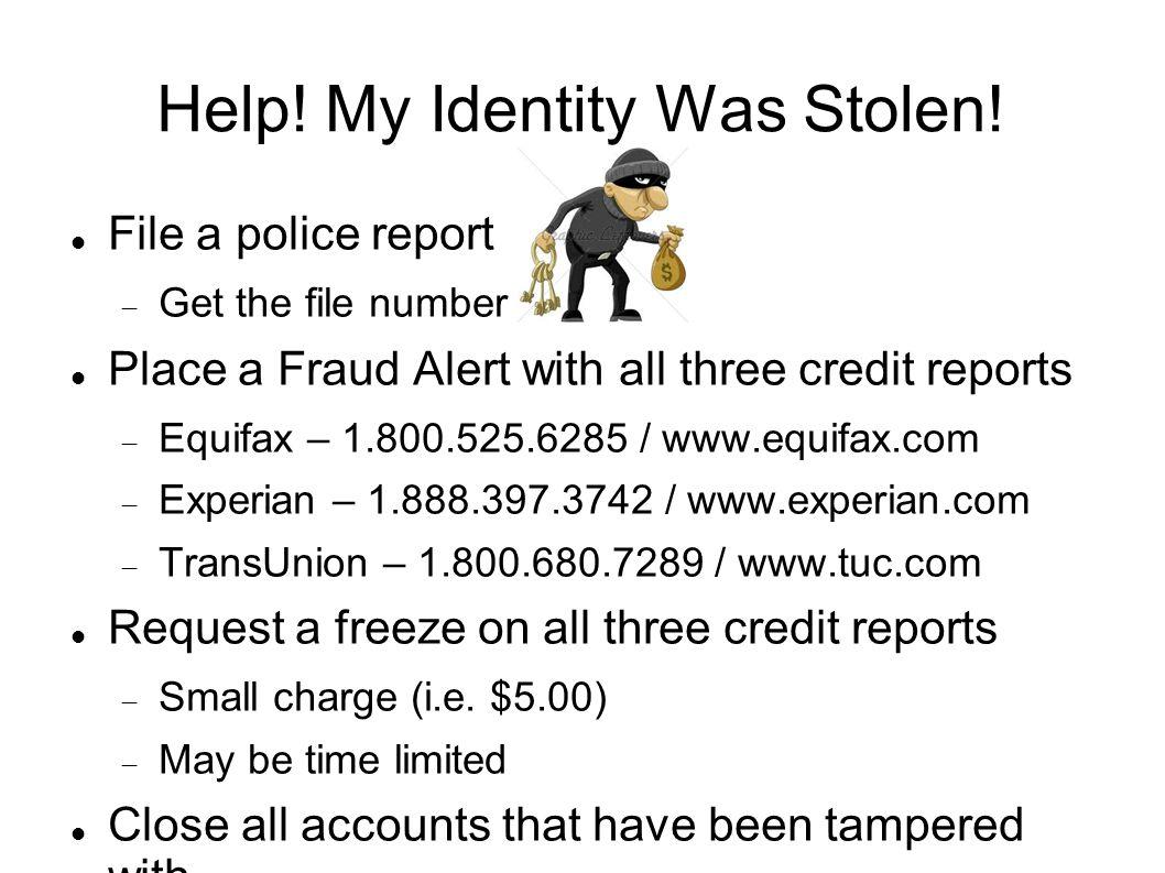 Help. My Identity Was Stolen.