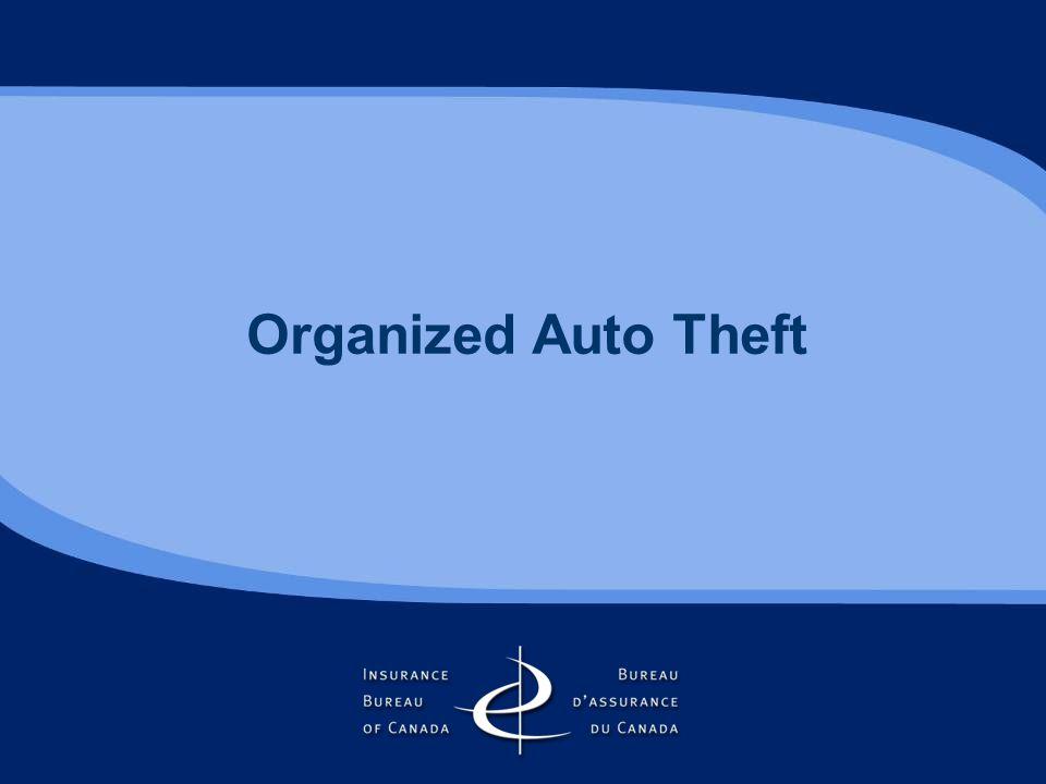 Organized Auto Theft