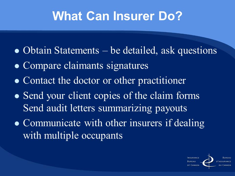 What Can Insurer Do.