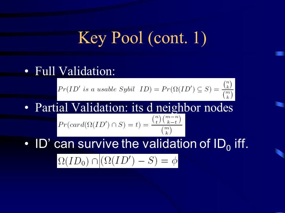 Key Pool (cont.