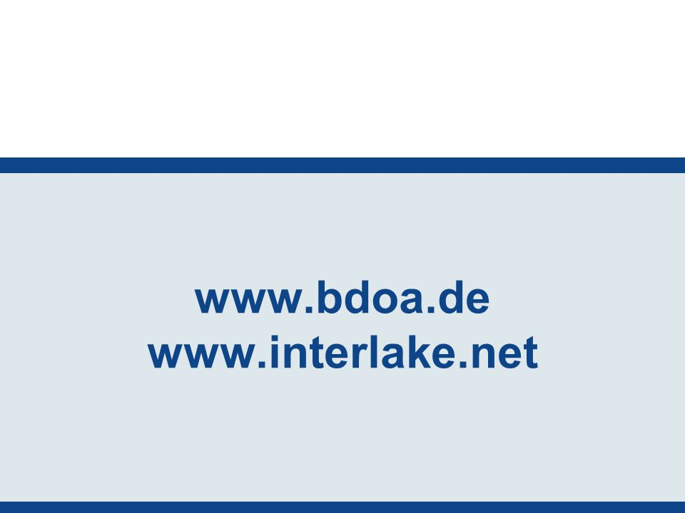 www.bdoa.de www.interlake.net