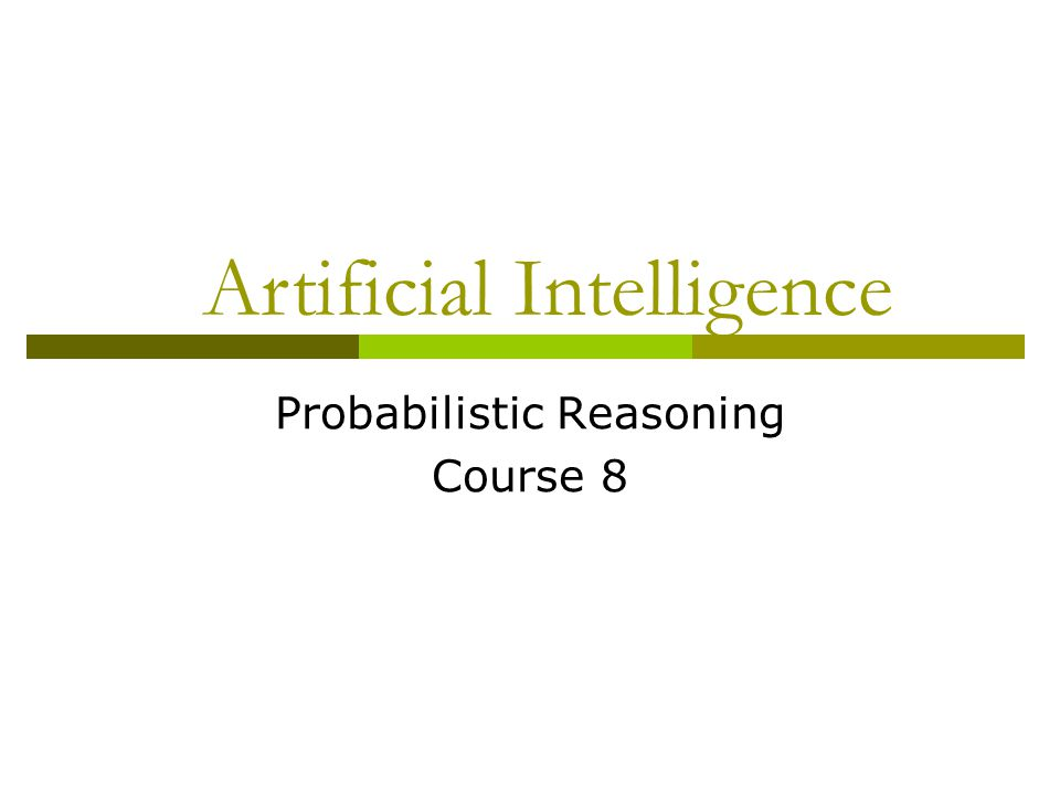 Conditional Probabilities  P(A|B) – the part of the environment in which B is true and A is also true Probability of A, conditioned by B D = headache, P(D)=1/10 G = flue, P(G)=1/40 P(D|G) = ½ If someone has flue, the probability of also having headache is 50% P(D|G)=P(D^G)/P(G)