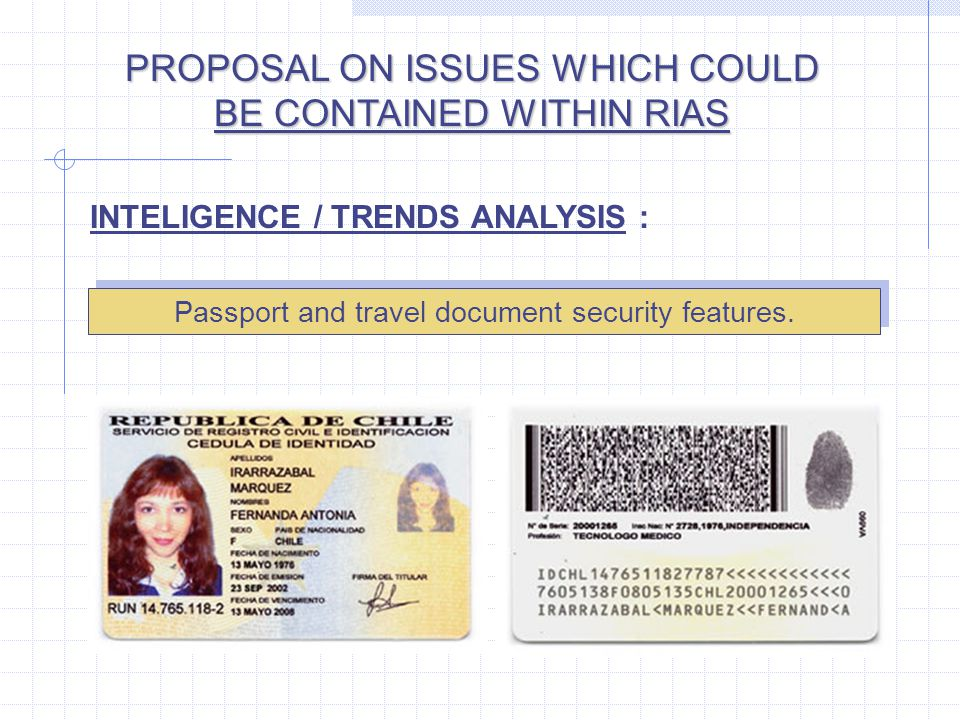 Passport and travel document security features.