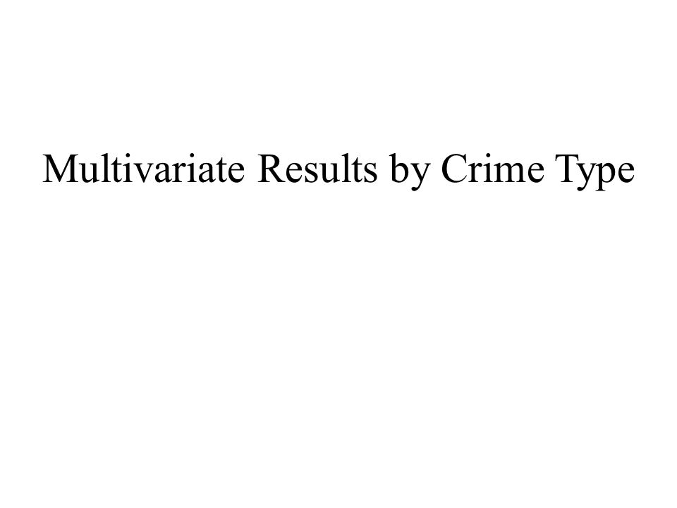 Multivariate Results by Crime Type