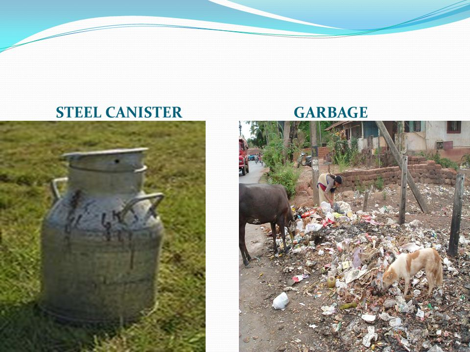 STEEL CANISTER GARBAGE