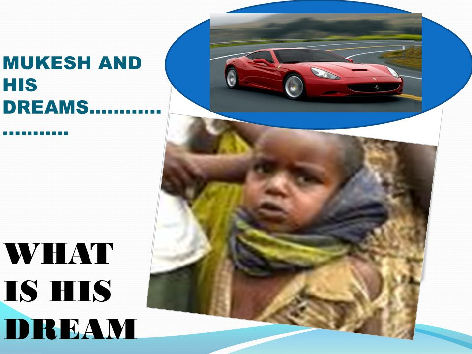 WHAT IS HIS DREAM MUKESH AND HIS DREAMS………… ………..