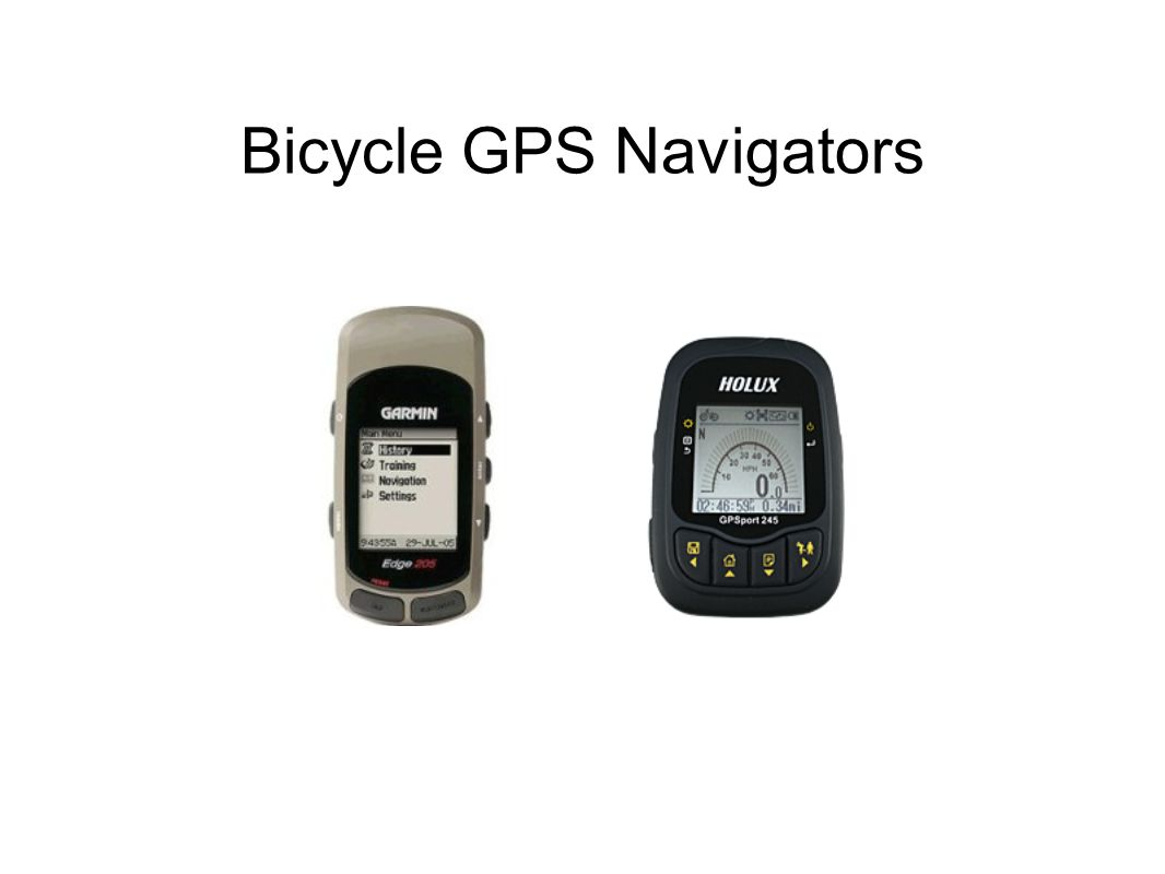 Bicycle GPS Navigators