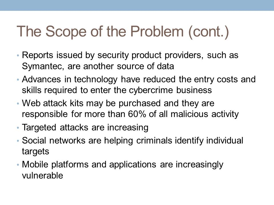 Types of Attacks Against Computer Systems